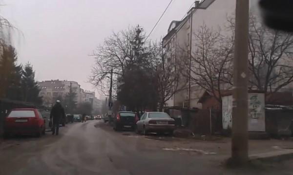 """Митично същество: Софийски тротоар по ул. """"Иван Сусанин"""""""