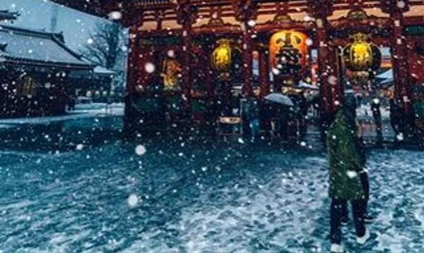 Токио в сняг – бяла красота и нежност