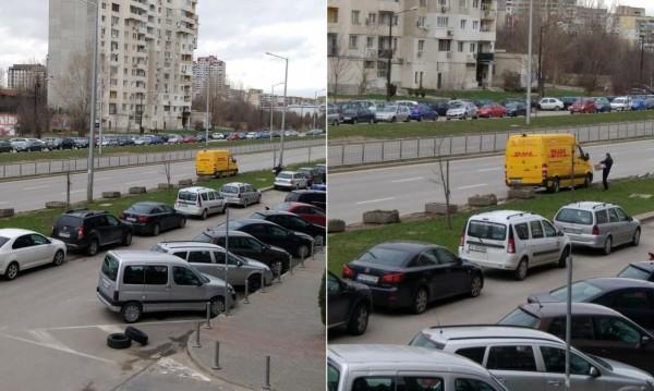 """Въпреки мерките: Камиони паркират на """"зелено"""" в Младост!"""