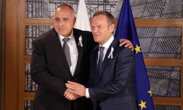 Борисов пред Туск: Диалогът с Ердоган да продължи!