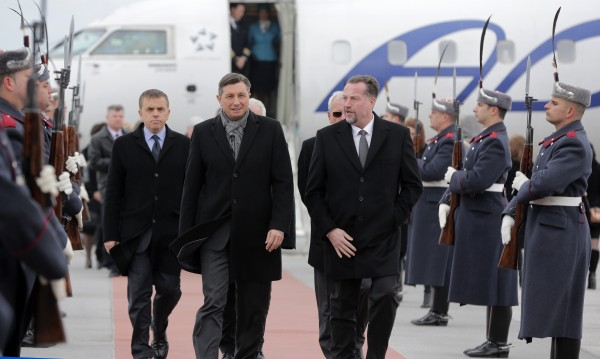 Президентът на Словения у нас с първия полет от Любляна