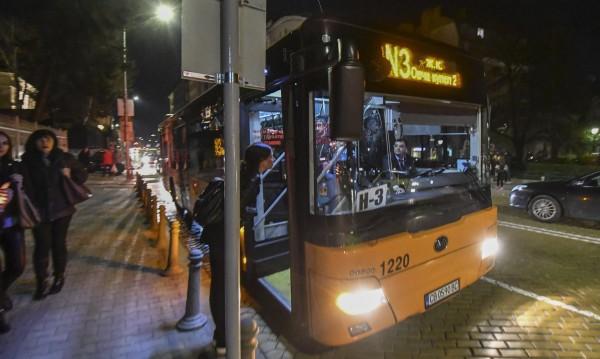 В София: Нощните автобуси потеглиха