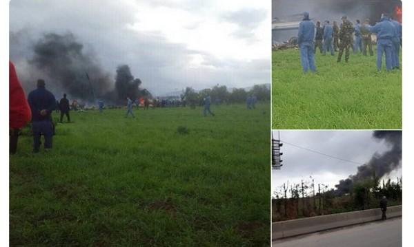 Военен самолет се разби в Алжир, жертвите са над 200