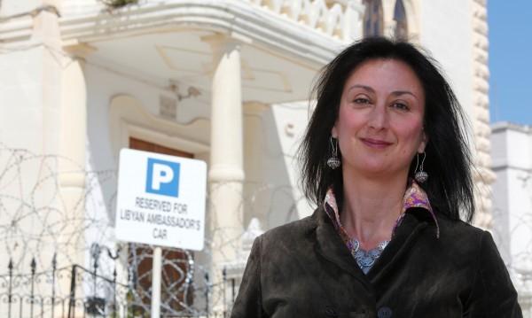 След убийството на Галиция, протести в Малта