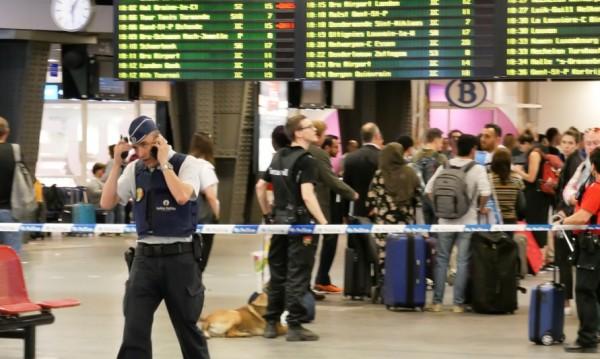 Изстрел вся паника в Южната гара на Брюксел