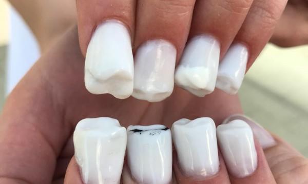 Новата тенденция по ноктите: Зъби!