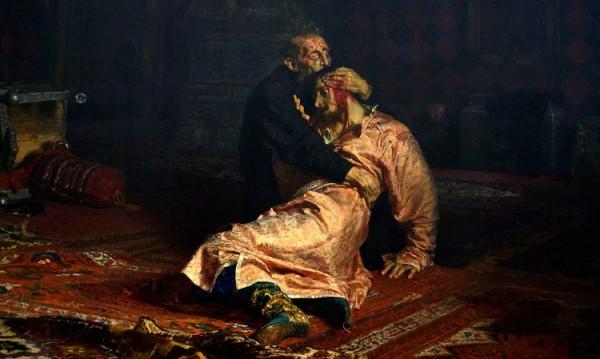 """Картината """"Иван Грозни убива сина си"""" увредена от вандал"""