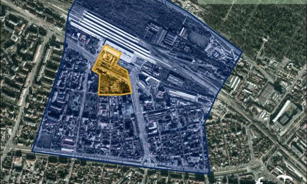 Около Централна гара: Амфитеатър, спортен център...