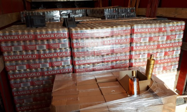 """9000 кенчета бира без документи на """"Дунав - мост 2"""""""