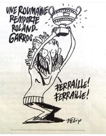 """""""Шарли ебдо"""" ядоса румънците, шегува се със Симона Халеп"""