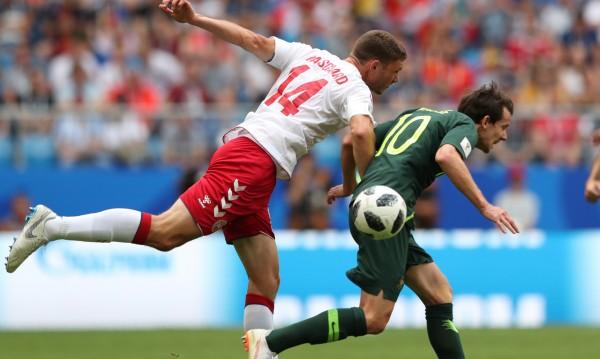 Австралия с гол от VAR и равенство срещу Дания
