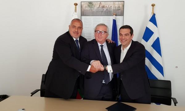 Борисов и Ципрас подписаха пред Юнкер за газовата тръба