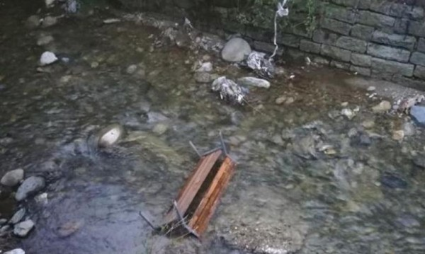 Забава в Дупница: Хвърляш общинска пейка в р. Джерман