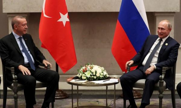 Путин и Ердоган се срещнаха в Йоханесбург