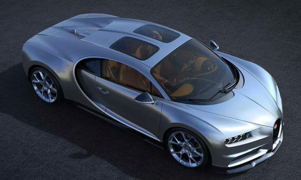 Над нас небето! Bugatti направи стъклен покрив за Chiron