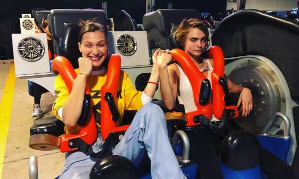 Щури за връзване: Бела и Кара се забавляваха заедно