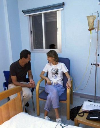 Първата дама на Сирия се подложи на лечение на рак