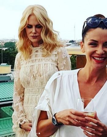 Диляна Попова и Никол Кидман на коктейл в Русия
