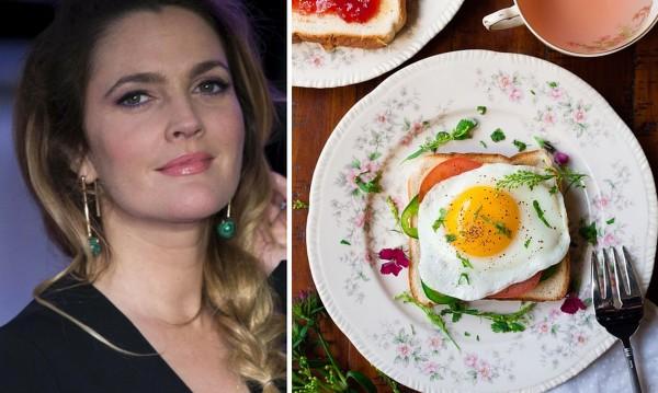 Рецептата Dnes: Здравословен сандвич с яйце от Дрю Баримор