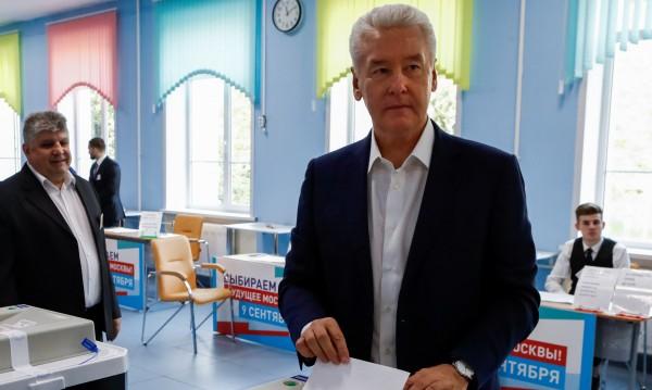 Собянин печели 74% от гласовете на вота за кмет на Москва