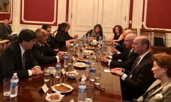 Бойко Борисов поиска подкрепа от евреите в САЩ за визовия режим
