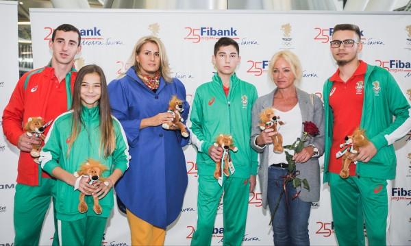 Fibank изпрати младите български олимпийци с лъвчета за късмет