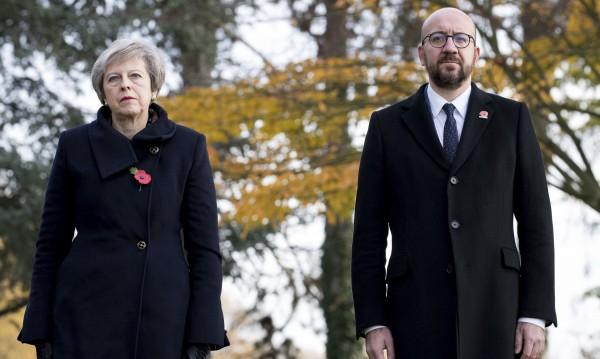 Инцидент с кортежа на британския и белгийския премиер