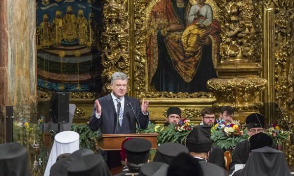 Порошенко обяви създаването на автокефална църква