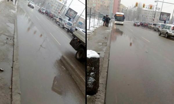 В София: Нов ремонт, нов асфалт, а на пътя - локви