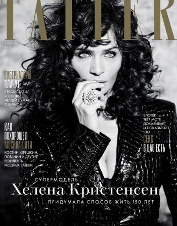 Черно и бяло: Хелена Кристенсен пред обектива на Tatler