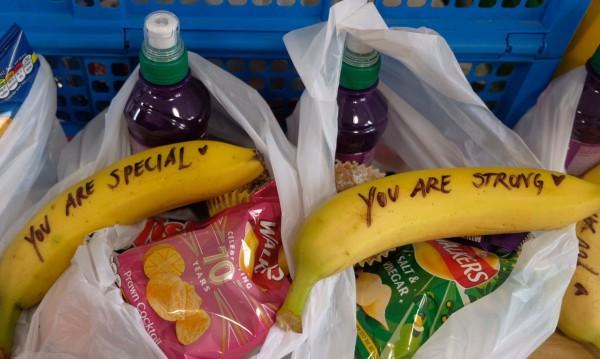 Банан, надписан от Меган Маркъл - хит в интернет