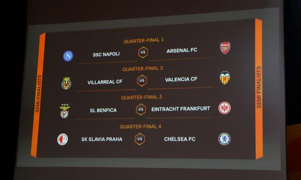 Наполи срещу Арсенал в дербито за Лига Европа