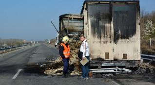 Хърватски камион изгоря на