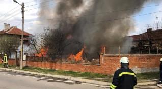 Пламна къща в Харманли, няма пострадали