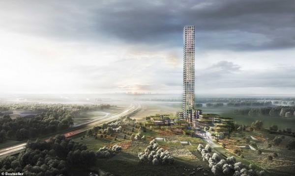 Най-високата сграда в Западна Европа в градче със 7000 души