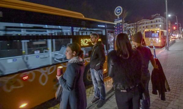 144 хиляди пътници са използвали нощния транспорт в София