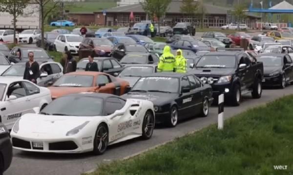 Porsche, Lamborghini... Полицията в Германия спря 120 спортни коли на магистрала