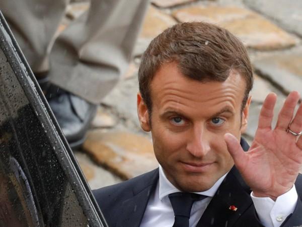 Френският президент Еманюел Макрон, чиято страна ще поеме в средата