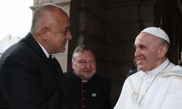 Бойко Борисов изпрати Папа Франциск към Северна Македония