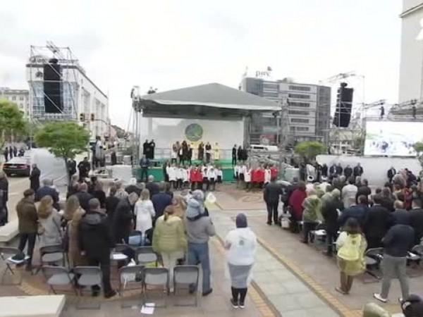 Събитието за мир, което направи в центъра на София папа