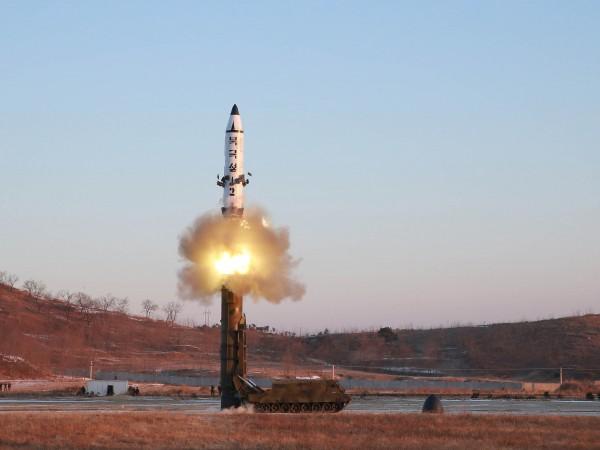 Пхенян заяви в петък, че с опитна цел е нанесъл