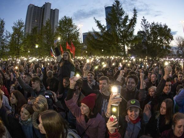 Няколко десетки протестиращи бяха арестувани при протестна демонстрация срещу строителството