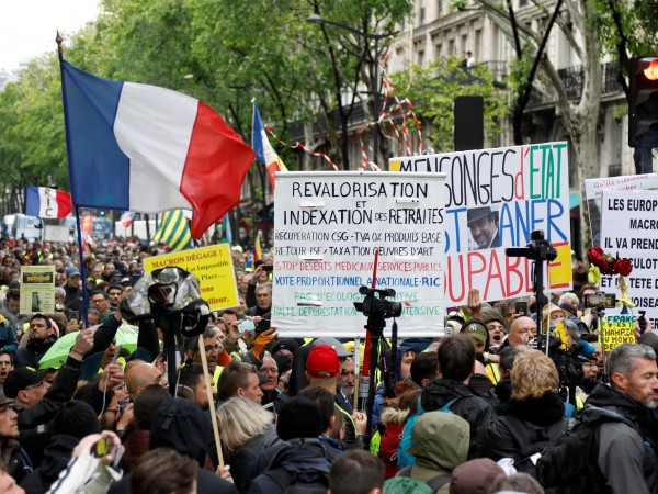 """Въпреки по-големият брой хора, тази събота, протестът на """"жълтите жилетки"""""""