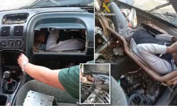 Мигрант се опита да влезе в Испания, скри се в жабка на кола