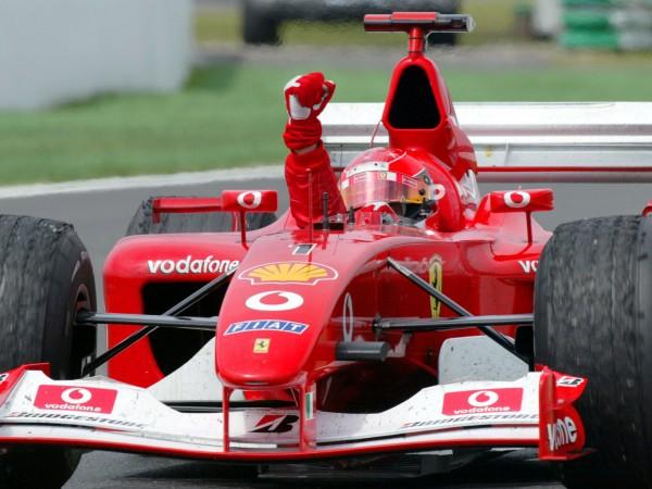 Шампионският Ferrari F2002 на Михаел Шумахер, с който легендата си