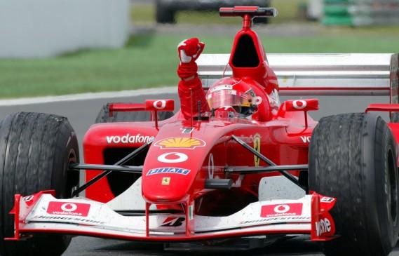 Продават на търг шампионски болид на Шумахер