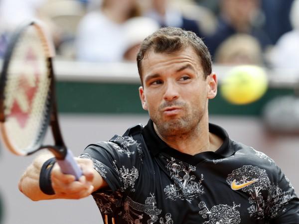 Най-добрият български тенисист Григор Димитров падна с три позиции в