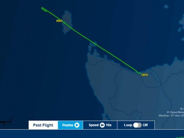 Стоките, натоварени на самолета Piper PA-31-350 трябвало да стигнат от