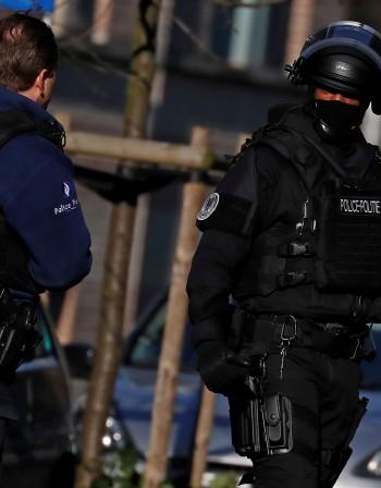 Заплаха за атентат в Брюксел, написан на стена