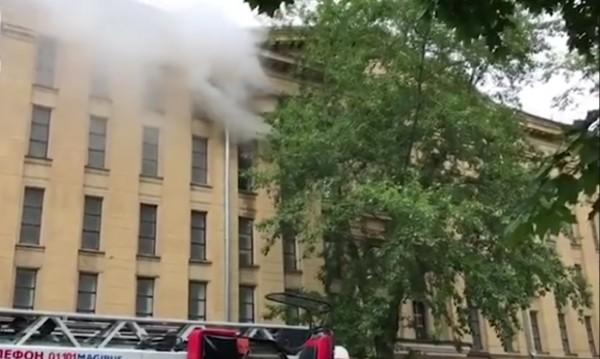 Горя държавния архив в Москва, 100 души евакуирани